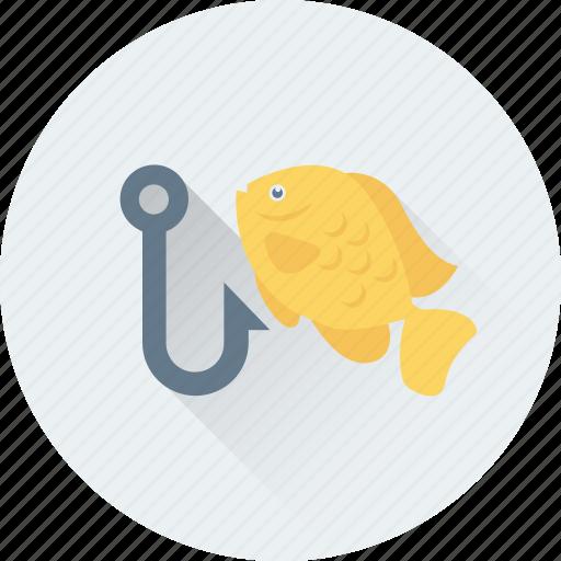 angling, fish hunting, fishing, fishing hook, fishing rod icon