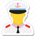 captain, driver, job, man, pilot icon