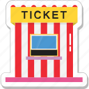 cinema, pass, theater, ticket, ticket counter icon