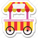food stall, food stand, kiosk, shop, street food icon