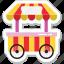 food stall, food stand, kiosk, shop, street food icon
