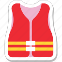 clothing, jacket, life jacket, safety, vest icon