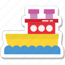 boat, cruise, ship, travel, vessel icon