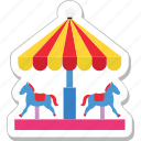 amusement park, carousel, fair ride, horse, merry go round icon
