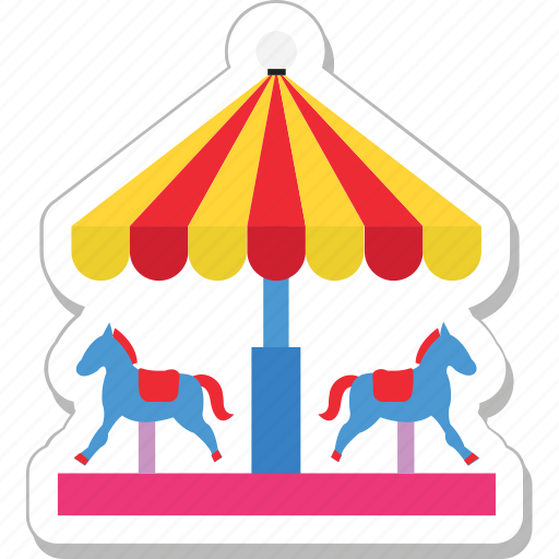 amusement park, carousel, fair ride, horse, merry go round icon