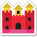 building, castle, fort, medieval, sand castle icon