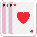 casino, gambling, game, heart card, poker icon
