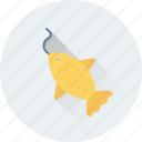 fishing, fishing rod, game, hunting, rod icon