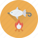 barbecue, bbq, bbq fish, camping, fish icon