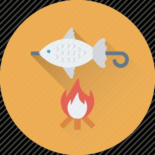 barbecue, bbq, bbq fish, camping, fish icon