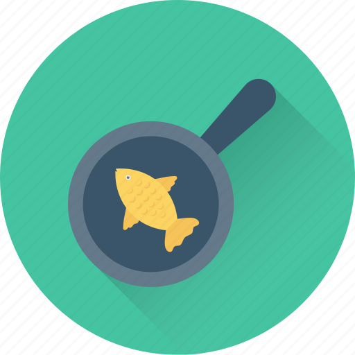 cookware, fish, fry fish, frypan, seafood icon