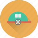 caravan, convoy, living van, transport, vehicle icon