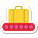 bag, briefcase, conveyor belt, luggage, suitcase icon