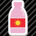 lotion, sun oil, sunblock, sunburn cream, sunscreen