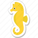 animal, creature, hippocampus, sea, seahorse icon