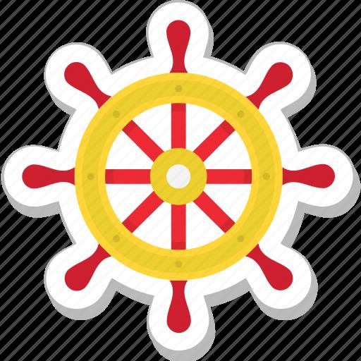 boat controller, boat steering, boat wheel, nautical, ship wheel icon