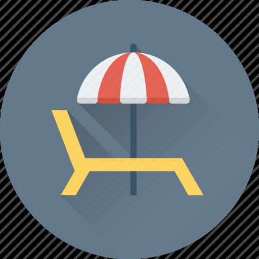 Beach, deck chair, sun tanning, sunbathe, tanning icon - Download on Iconfinder