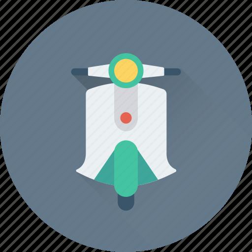 Motorbike, motorcycle, transport, vespa, vespa scooter icon - Download on Iconfinder