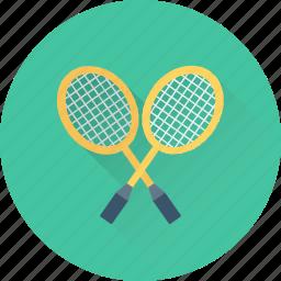 badminton, racket, sports, squash, tennis racket icon