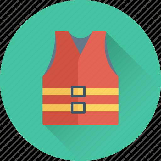 cork jacket, life jacket, life vest, safety jacket icon