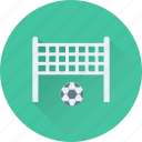 football, football goal, football net, goal post, soccer icon
