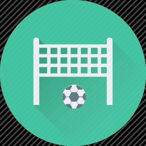 football, football goal, football net, goal post, soccer icon