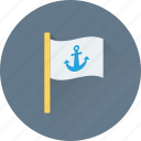 anchor, anchor flag, ensign, flag, location flag icon