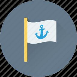 anchor, anchor flag, ensign, flag, location flag icon