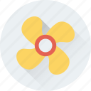 fan, paper windmill, pinwheel, whirligig, windmill toy icon