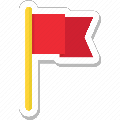 destination, emblem, ensign, flag, location flag icon