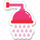 bath, bathroom, shower, shower head, shower sprinkler icon