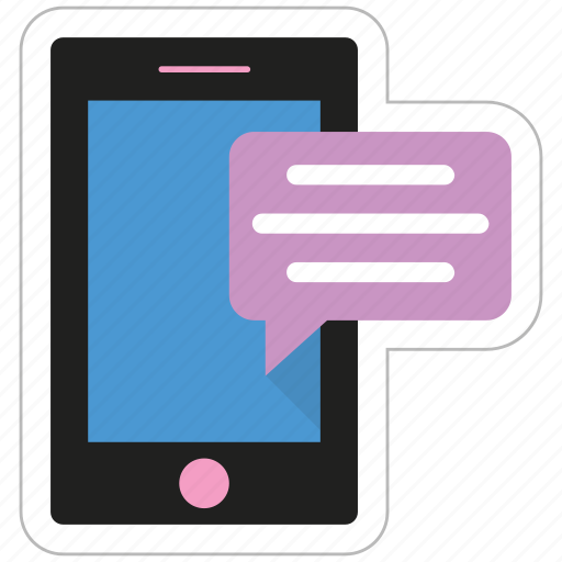 chat bubble, chatting, messenger, mobile, smartphone icon