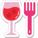dessert, food, fork, glass, ice cream icon