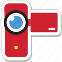 camcorder, camera, handy cam, recording, video camera icon
