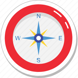 cardinal points, compass, directional, gps, navigational icon