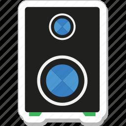 music, speaker, speaker box, subwoofer, woofer icon