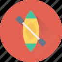 boating, canoe, canoe paddle, oars, oars tool icon