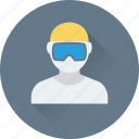 avatar, entertainment, goggles, sports, swimmer icon