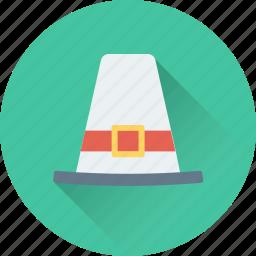 costume, fashion, hat, masculine, pilgrim hat icon