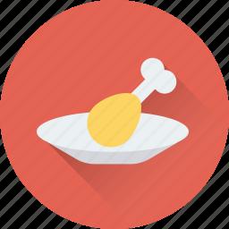chicken, chicken piece, food, leg piece, thigh meat icon