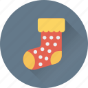 christmas, christmas stocking, socks, stocking, stocking fillers icon