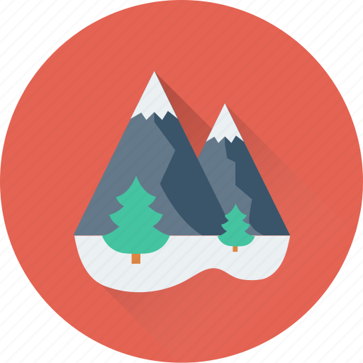 christmas tree, forest, landscape, mountains, tree icon