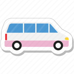 autobus, bus, coach, transport, vehicle icon