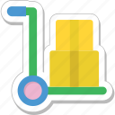 briefcase, cart, hotel trolley, luggage, trolley icon