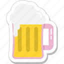 ale, beer, beer mug, chilled beer, drink