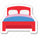 bed, bedroom, hotel room, room, sleeping icon