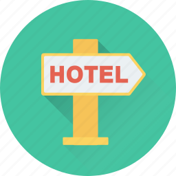 direction, direction post, guidepost, hotel direction, signpost icon