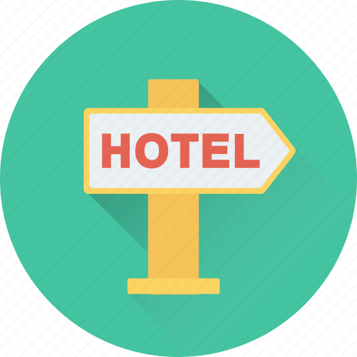 Direction, direction post, guidepost, hotel direction, signpost icon - Download on Iconfinder