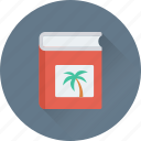 book, palm, study, tour book, tour guide icon