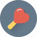 confectionery, heart, heart lollipop, lollipop, sweet icon